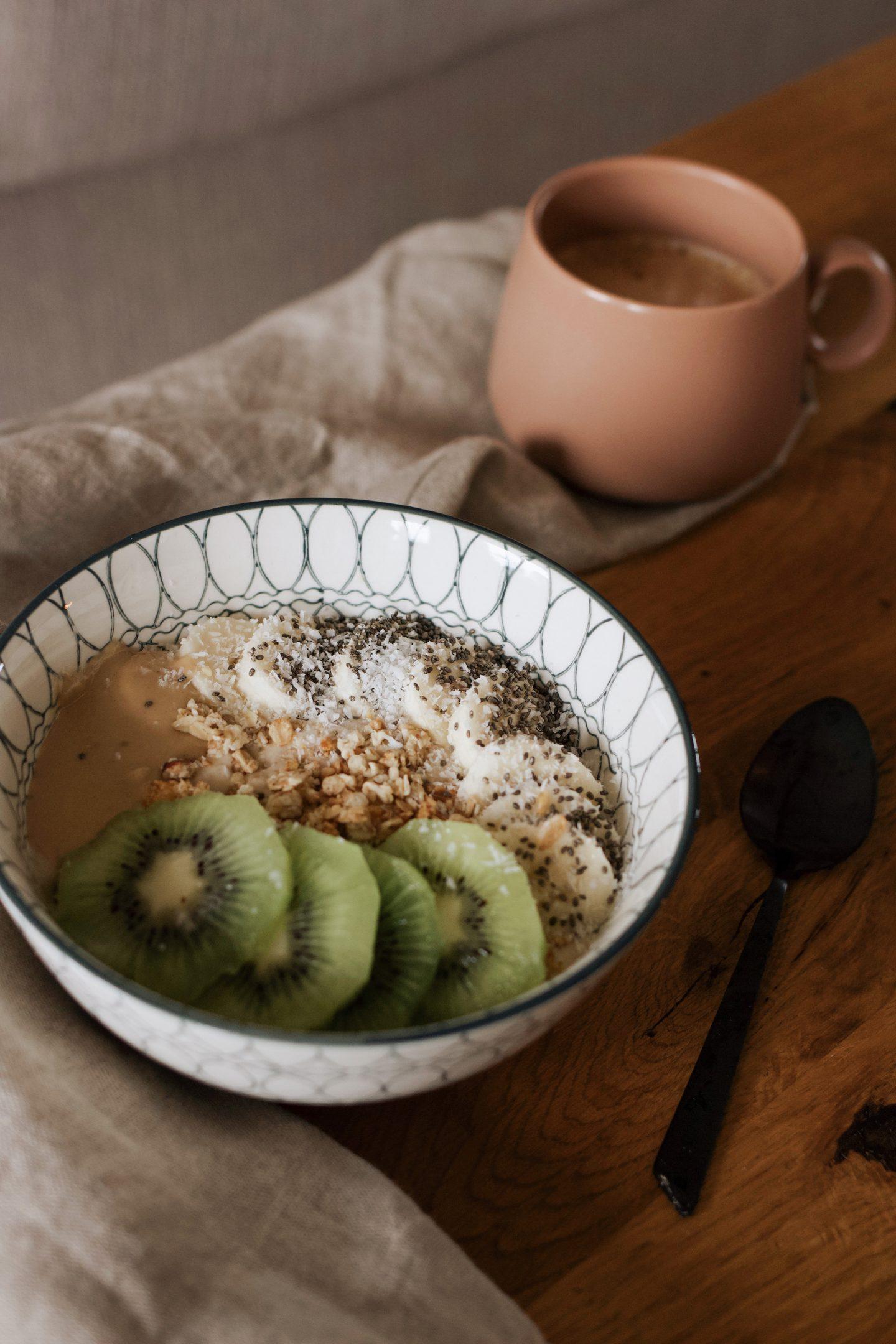 Recette : mon smoothie bowl banane et purée de cacahuètes